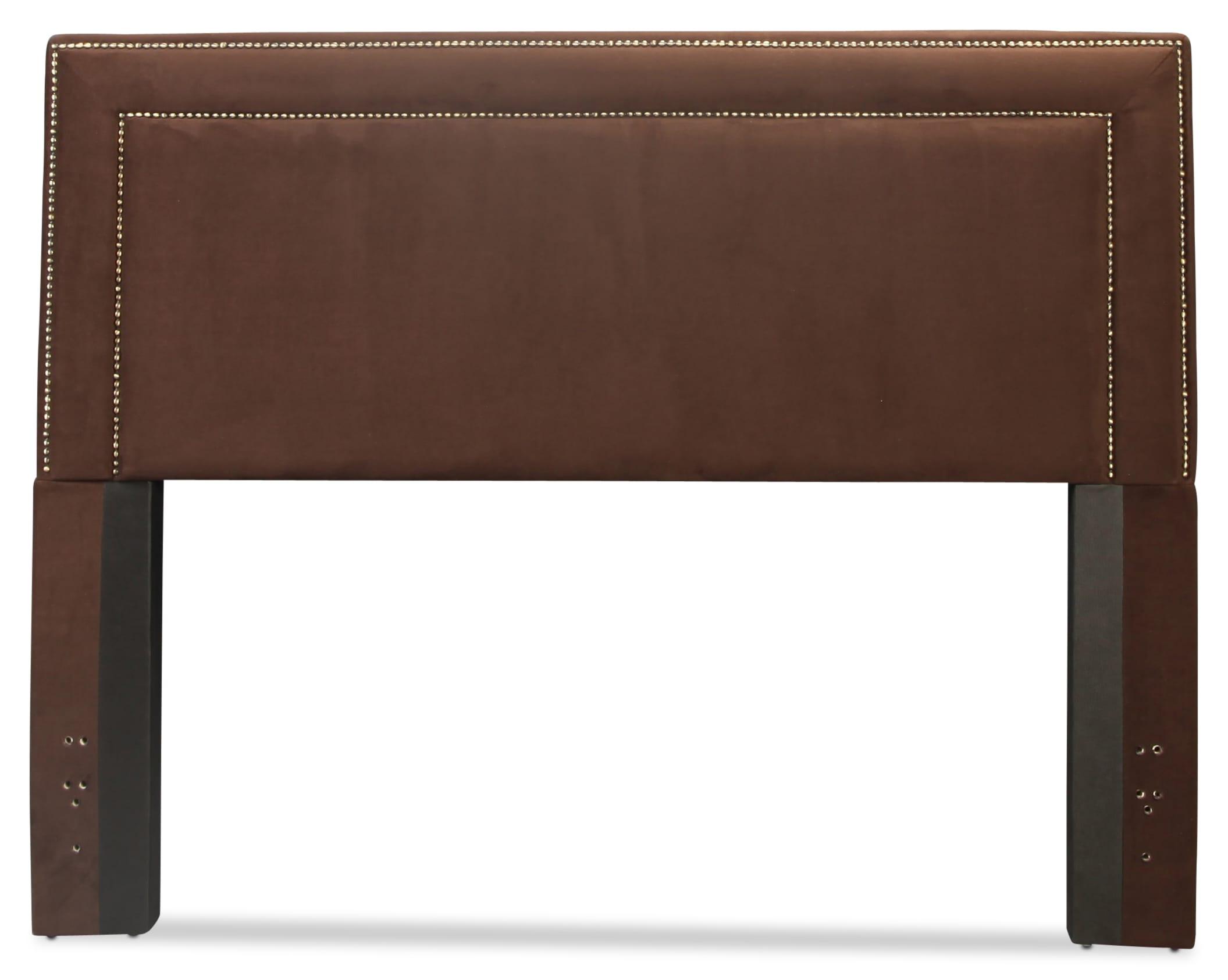 Amber Queen Upholstered Headboard - Chocolate