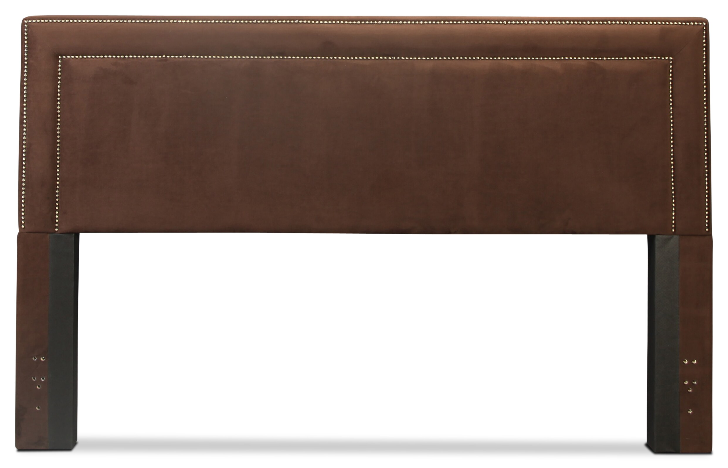 Amber King Upholstered Headboard - Chocolate