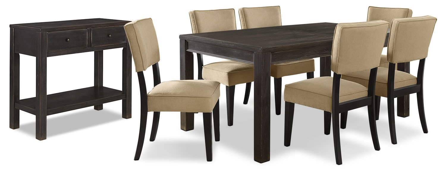 Gavelston 8-Piece Dining Package – Beige