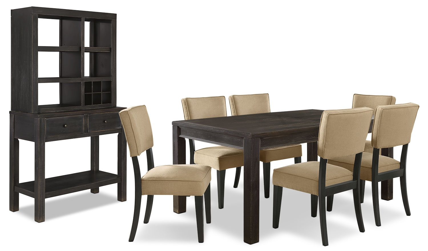 Gavelston 9-Piece Dining Package – Beige