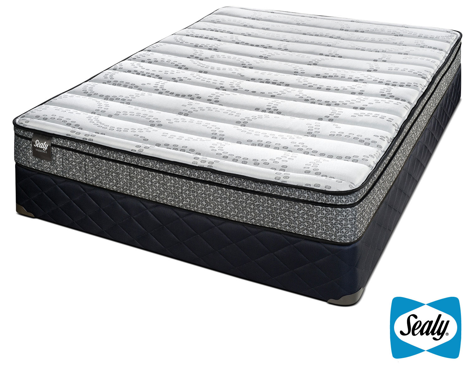 Sealy Imagine Cushion Firm Queen Mattress and Boxspring Set