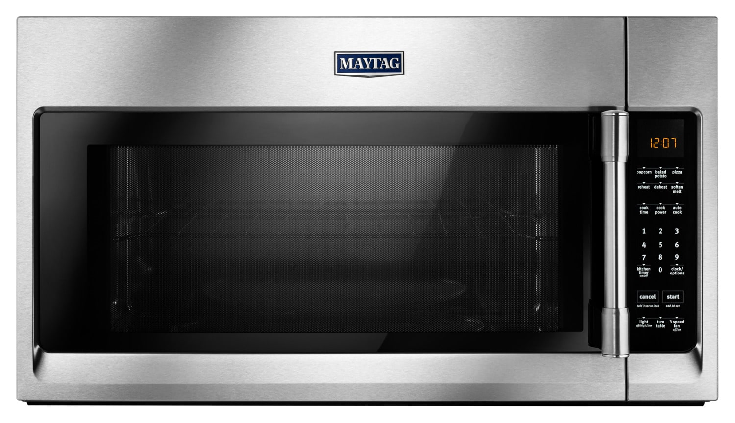 Maytag 2.0 Cu. Ft. Over-the-Range Microwave with Interior Cooking Rack – YMMV4206FZ