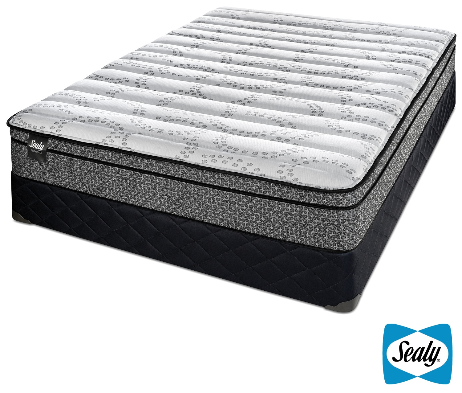 Sealy Phases Cushion Firm Queen Mattress and Boxspring Set