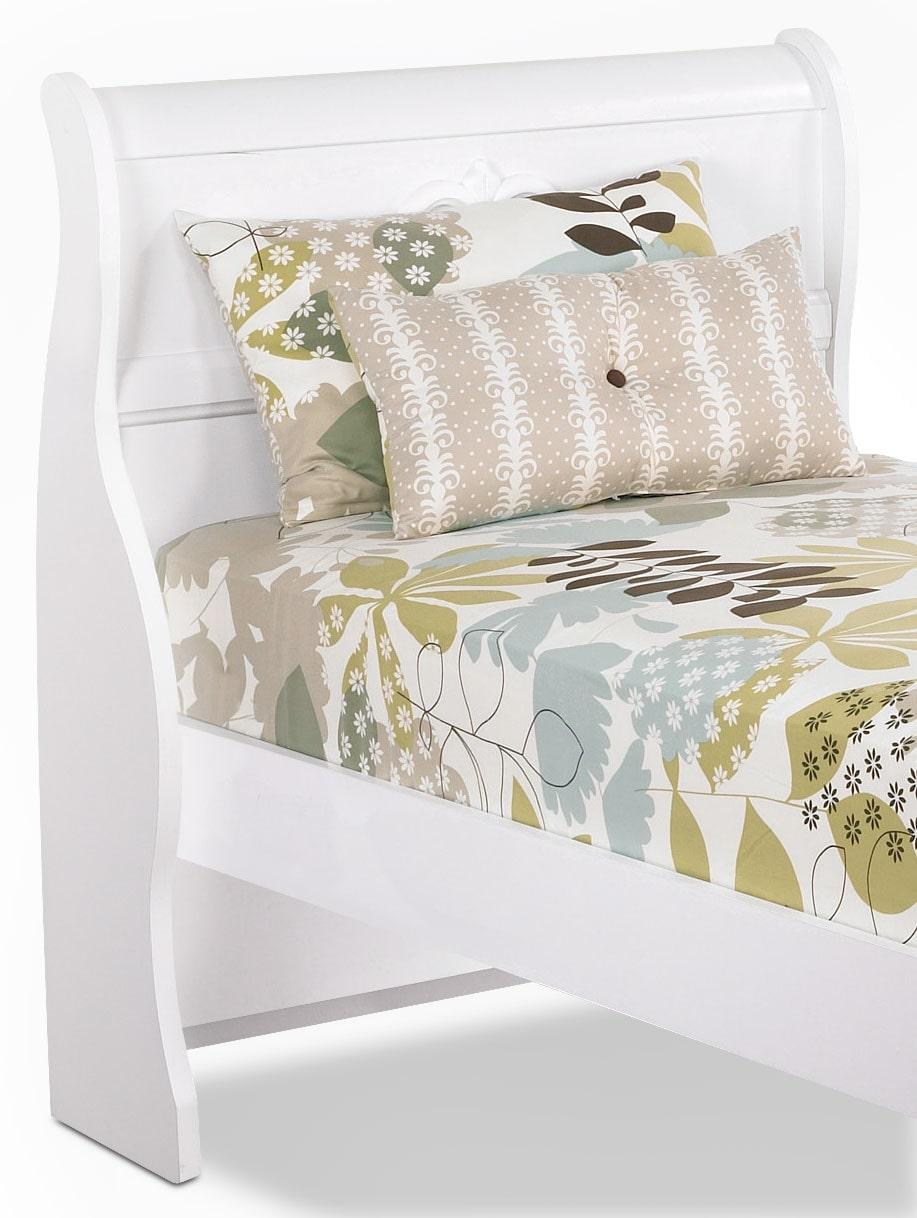 Meubles juvéniles - Tête de lit-bateau Diamond Dreams pour lit simple – blanc