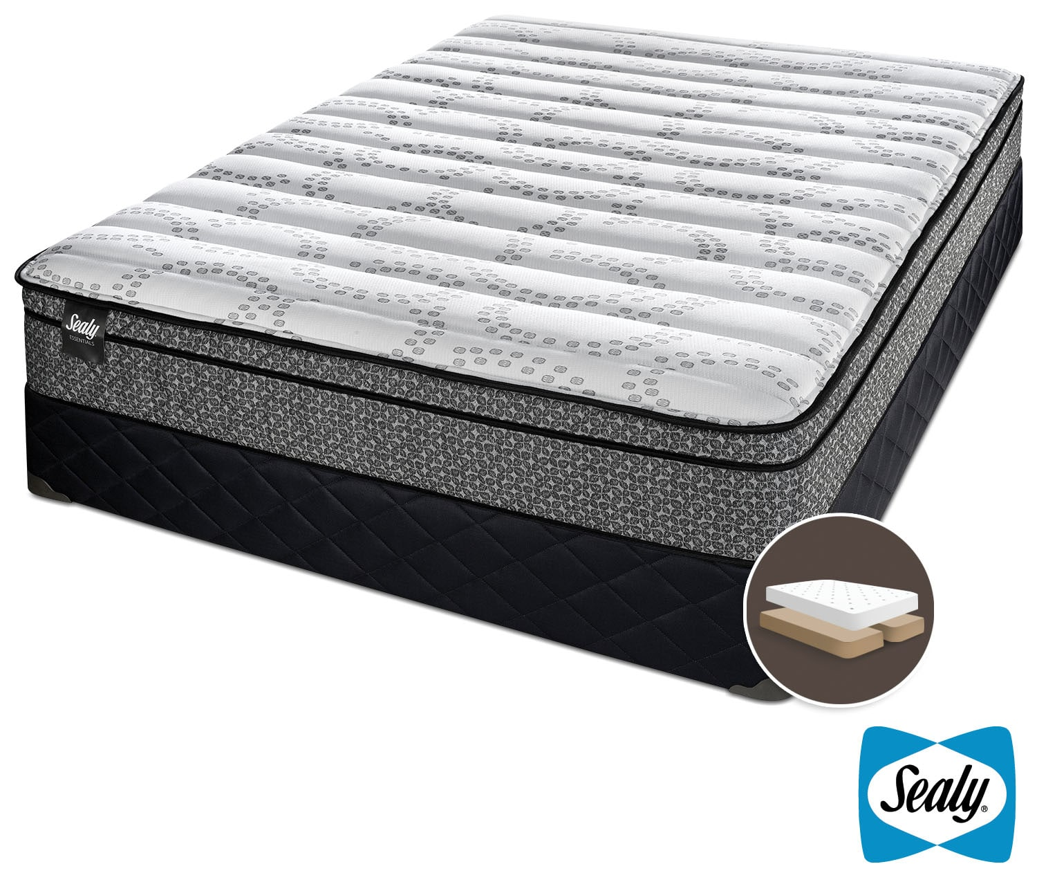 Sealy Phases Cushion Firm King Mattress And Split Boxspring Set Leon 39 S