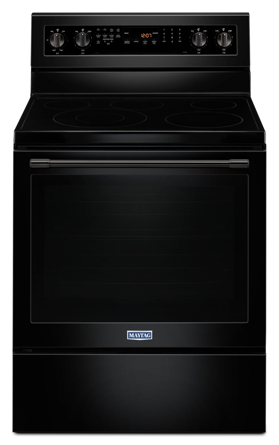 Maytag Black Freestanding Electric Convection Range (6.4 Cu. Ft.) - YMER8800FB