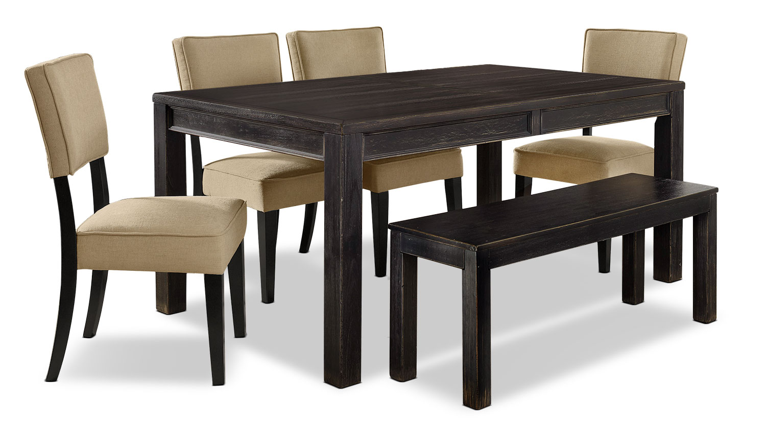 Dining Room Furniture - Gavelston 6-Piece Dining Package – Beige