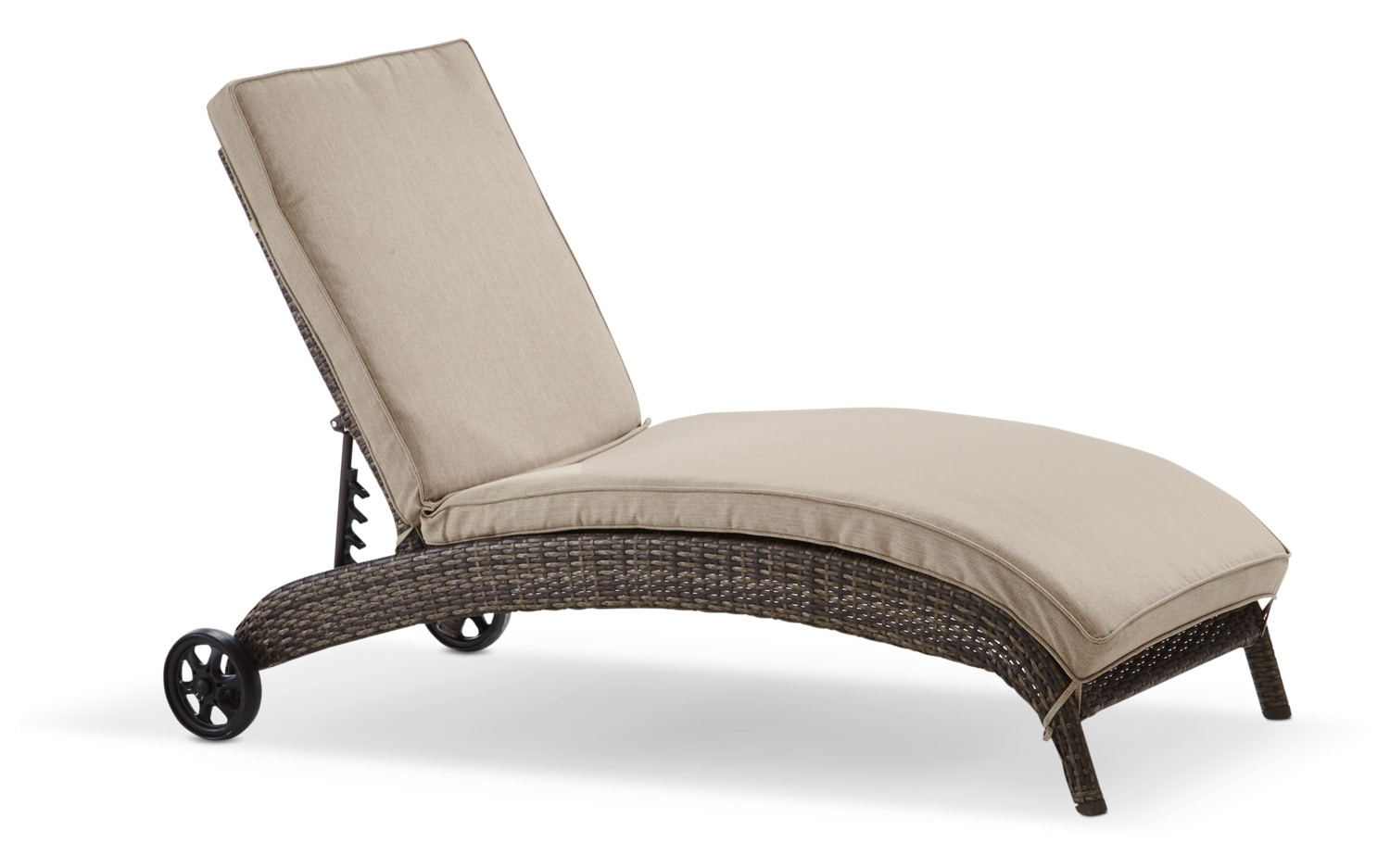 Orion Chaise Lounge - Beige and Brown