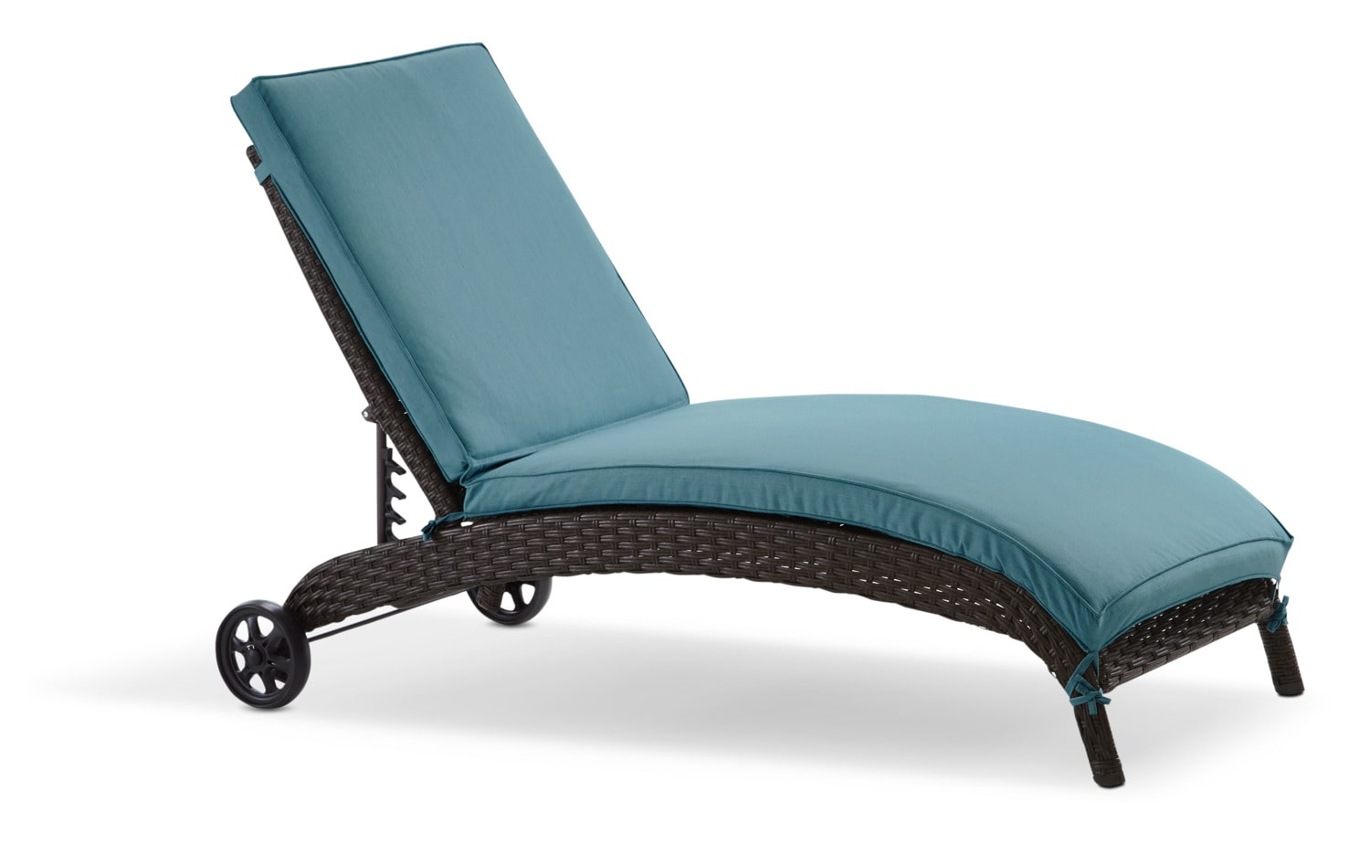 Orion Chaise Lounge - Blue and Brown