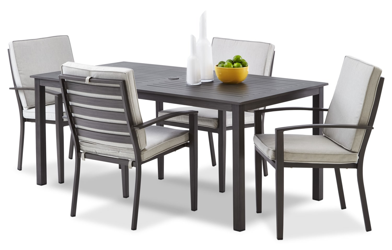 Grenada 5-Piece Outdoor Dinette - Grey