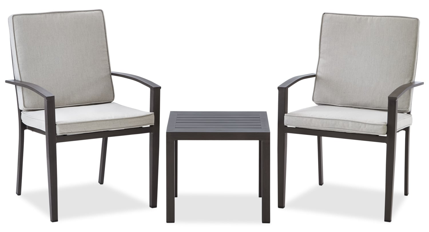 Grenada 3-Piece Conversation Set - Grey