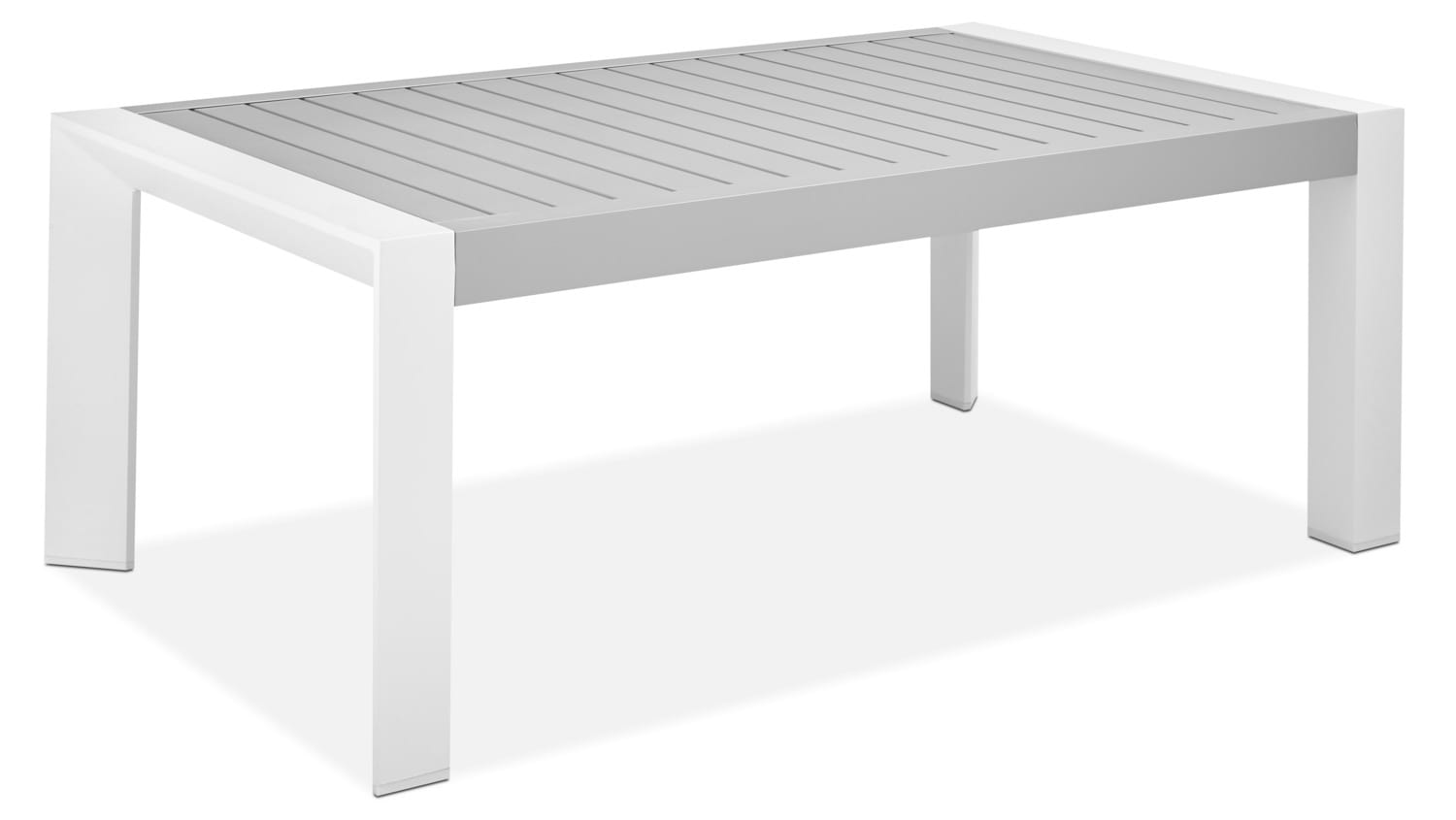 Biscayne Outdoor Coffee Table - Light Grey