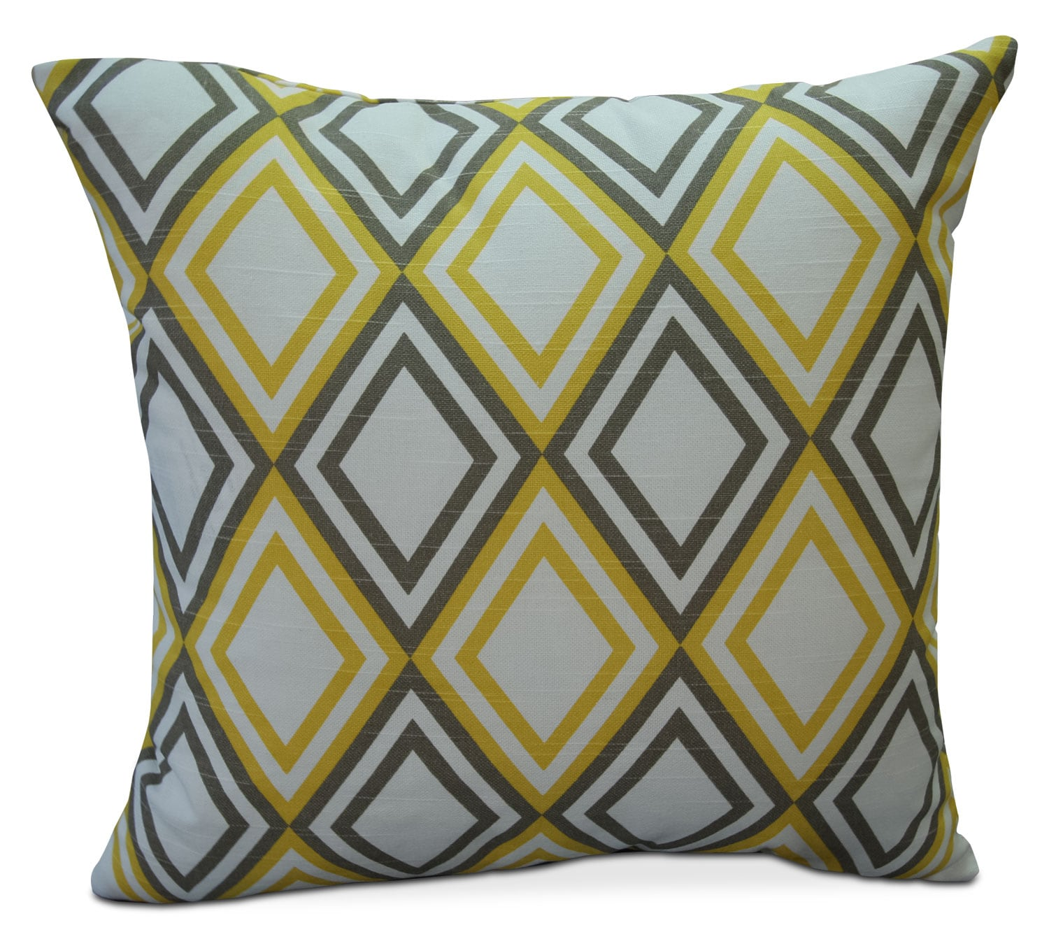 Accent and Occasional Furniture - Hawkeye Yellow Diamond Accent Pillow