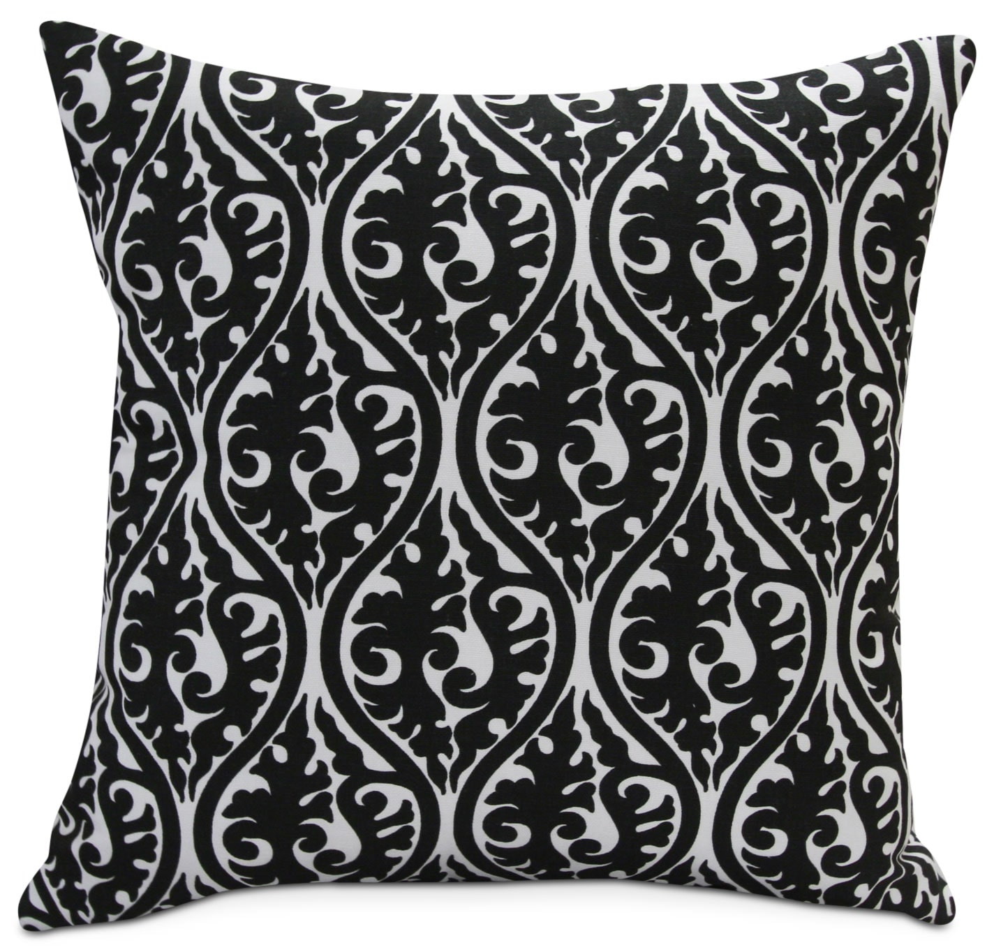 Trav Black and White Accent Pillow