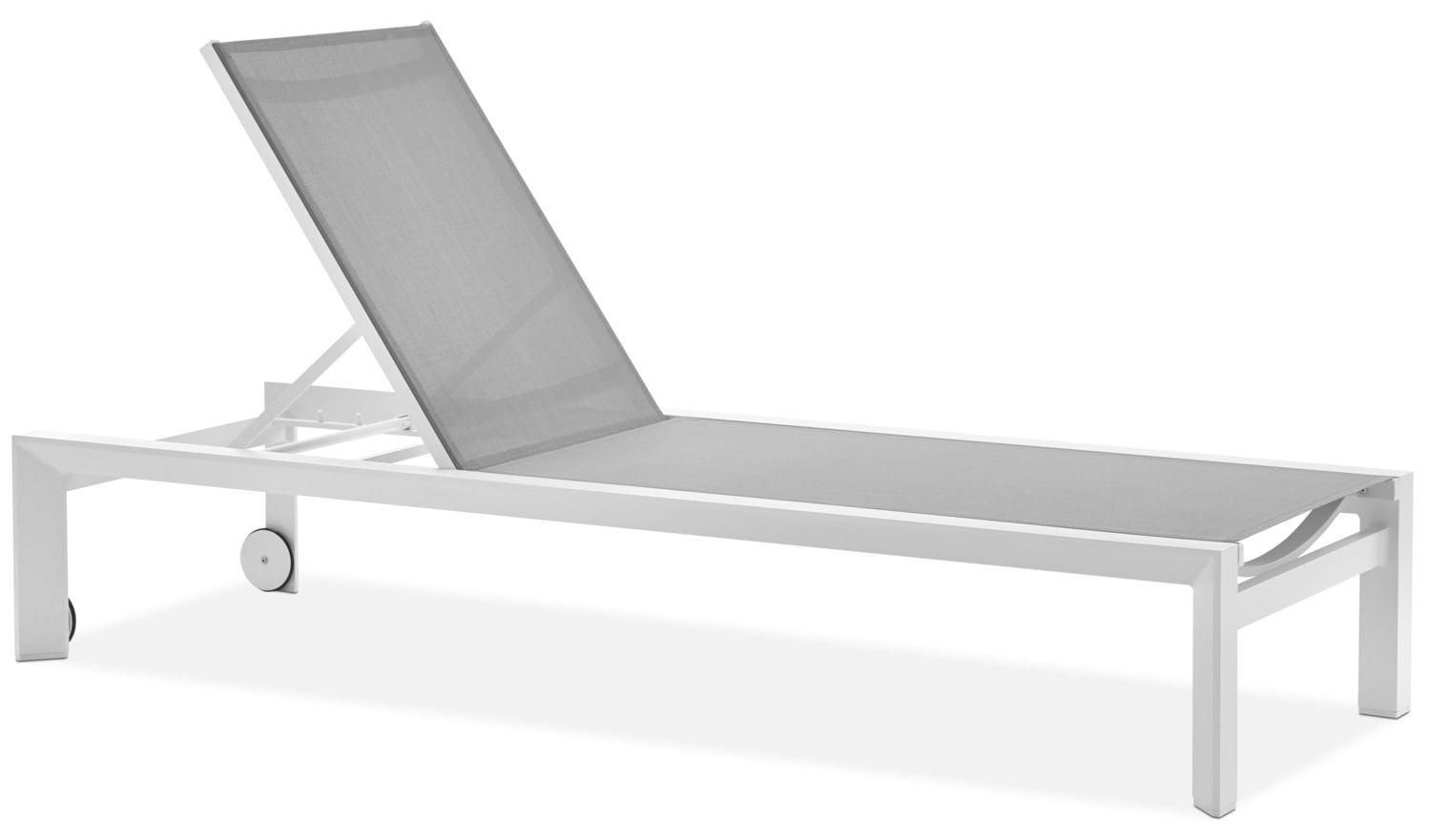 Biscayne Outdoor Lounger - Light Grey