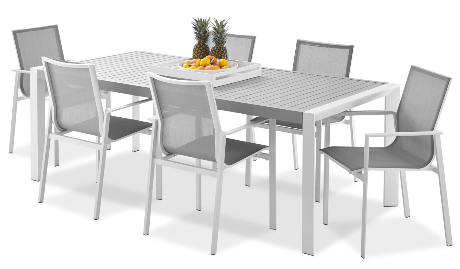 Biscayne 7-Piece Outdoor Dining Set - Light Grey