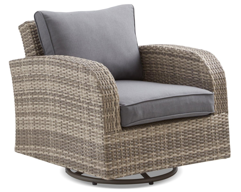 Marco Outdoor Swivel Chair - Grey