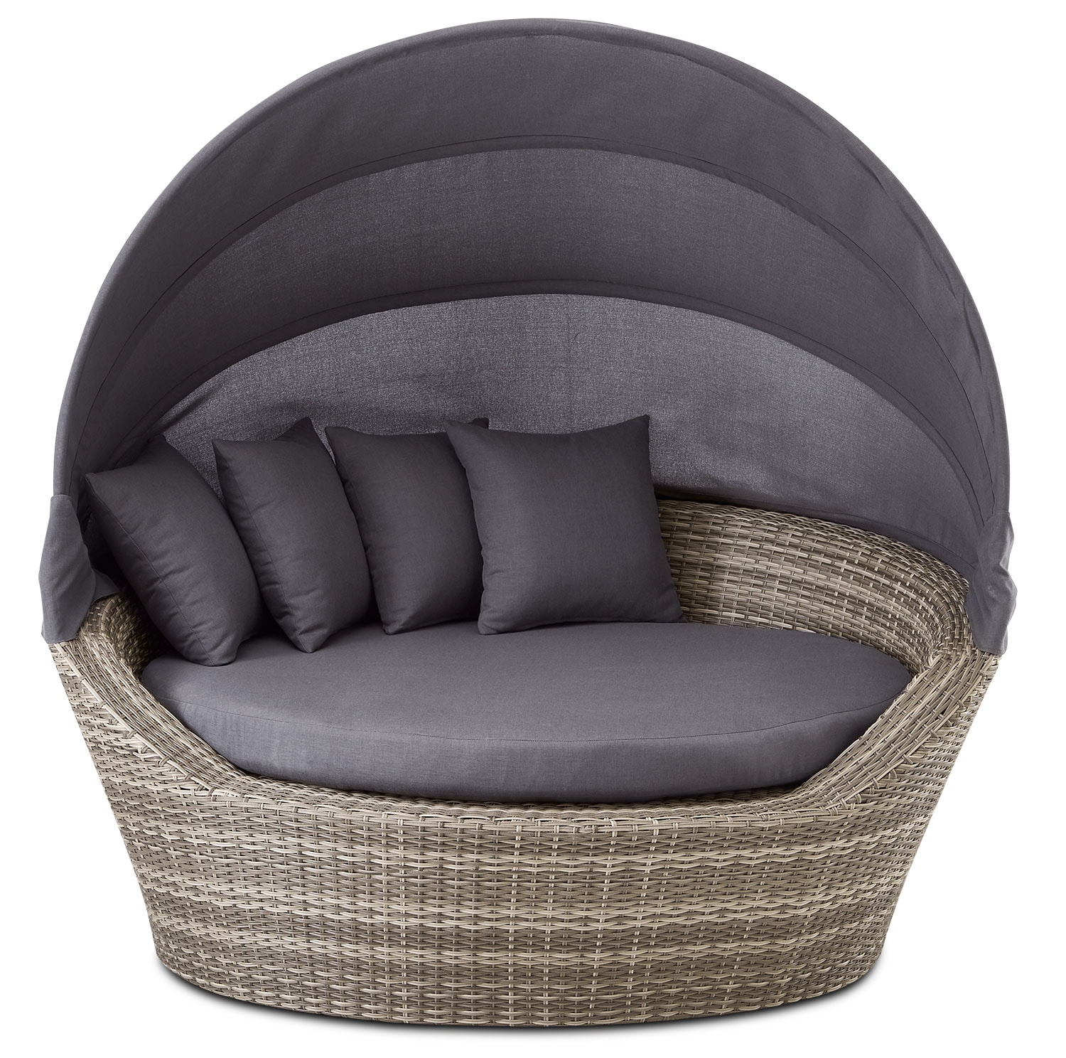 Outdoor Furniture - Jonathan Outdoor Daybed - Grey