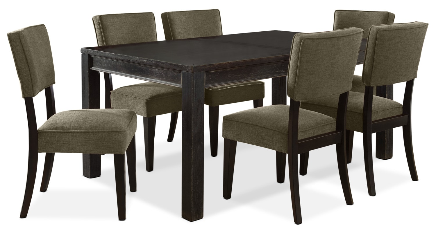 Gavelston 7-Piece Dining Package – Green