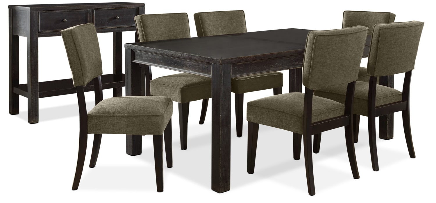 Gavelston 8-Piece Dining Package – Green