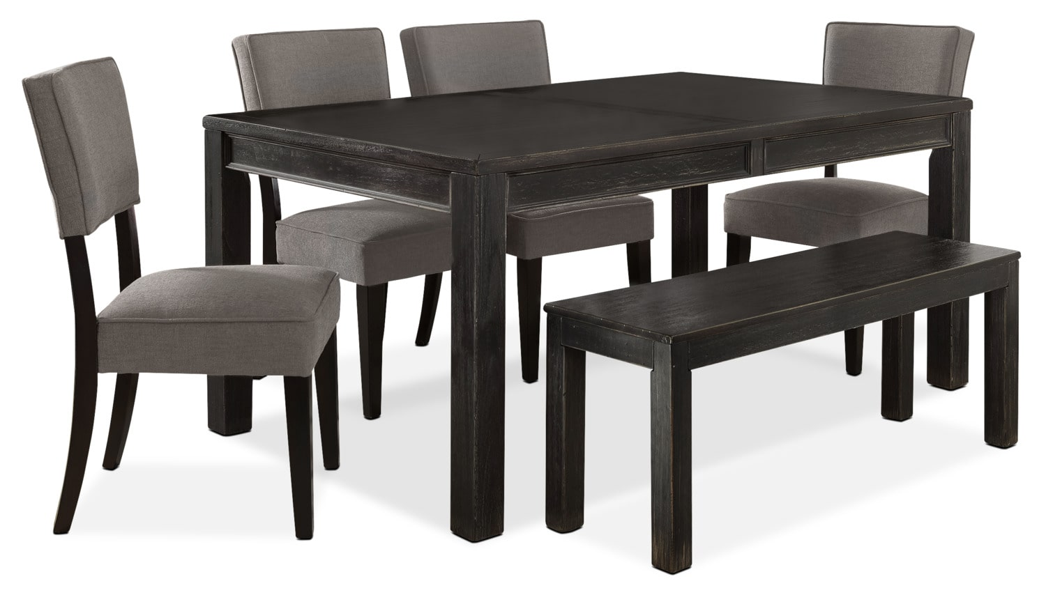Dining Room Furniture - Gavelston 6-Piece Dining Package – Grey
