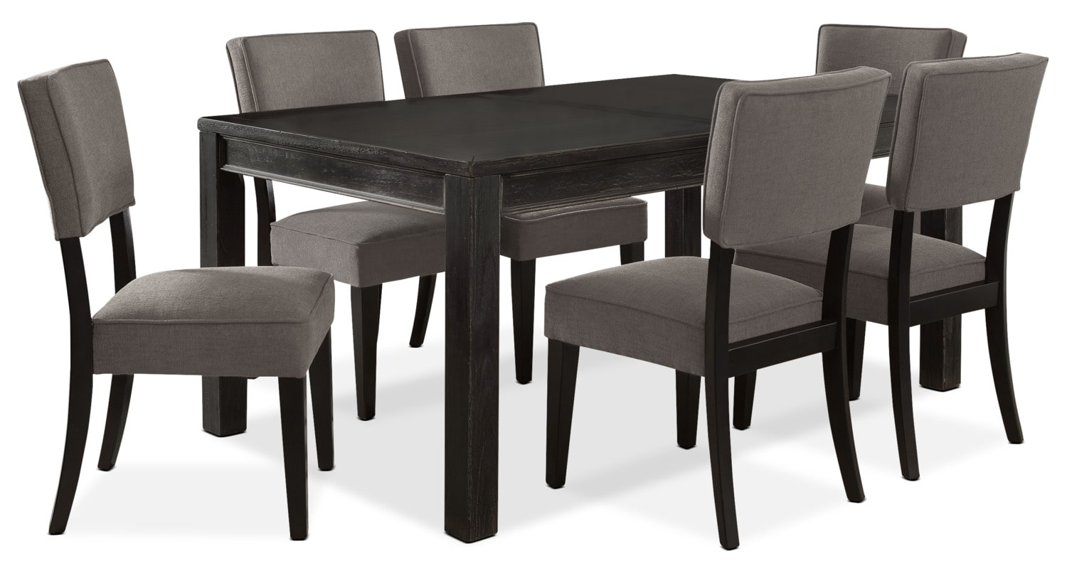 Dining Room Furniture - Gavelston 7-Piece Dining Package – Grey