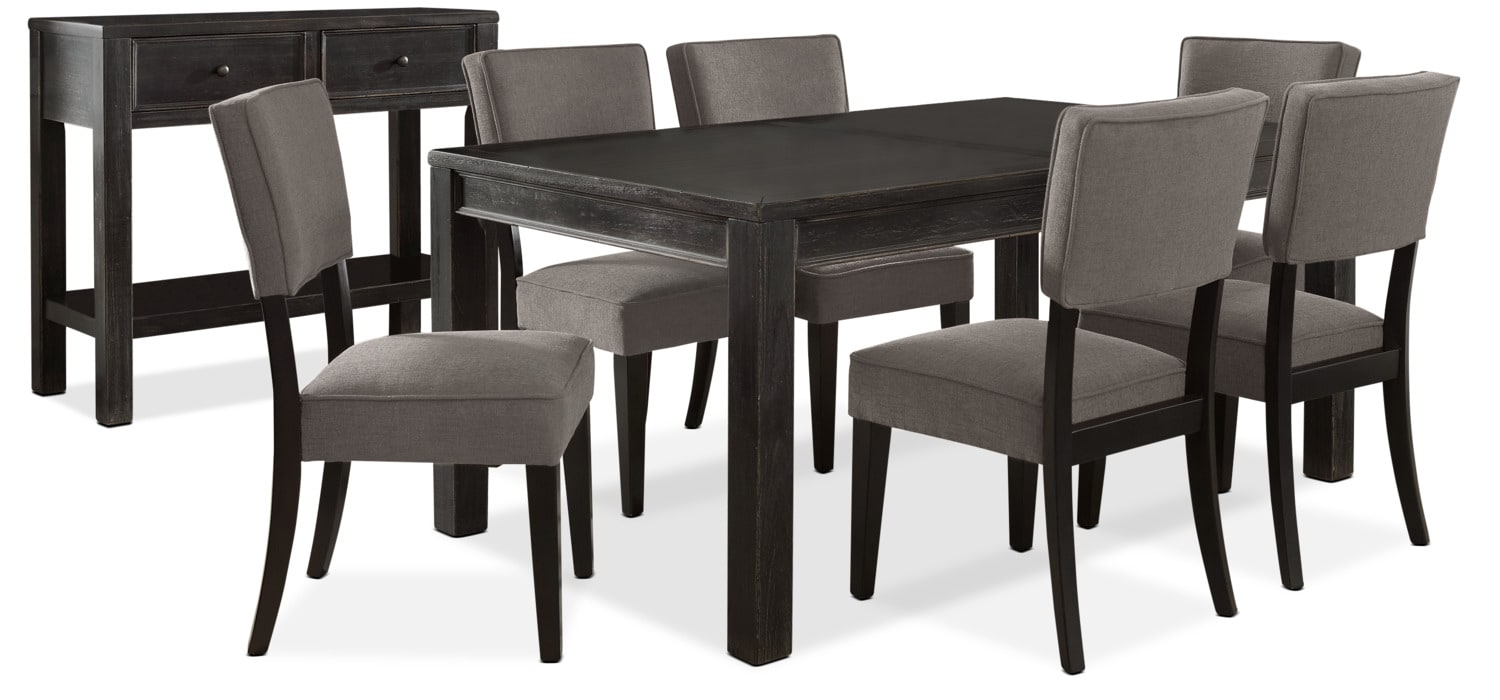 Gavelston 8-Piece Dining Package – Grey