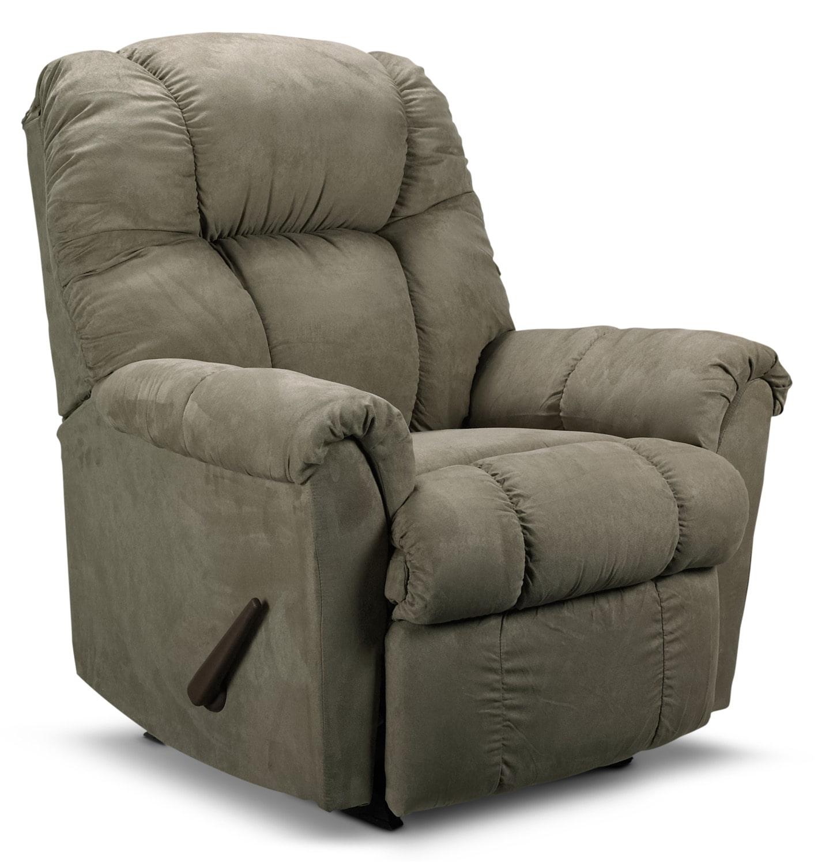 Living Room Furniture - Benson Rocker Recliner - Sage