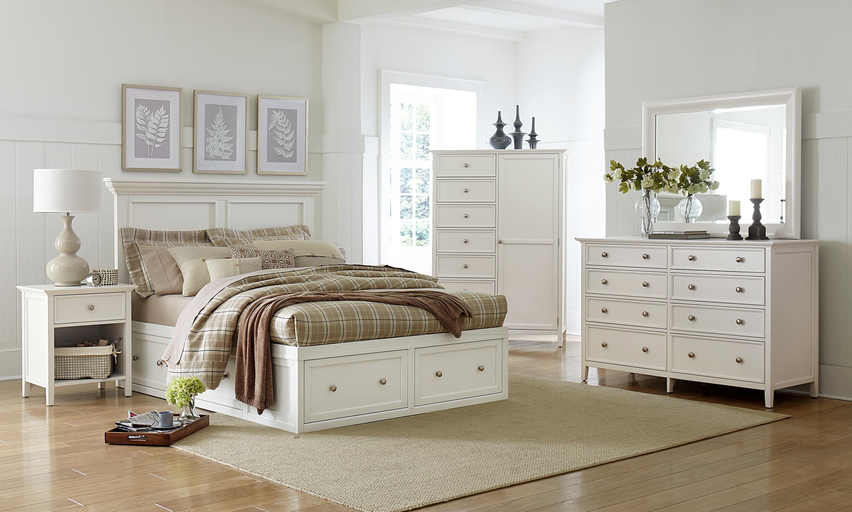 Ellsworth Queen 4-Piece Storage Bedroom Set - White