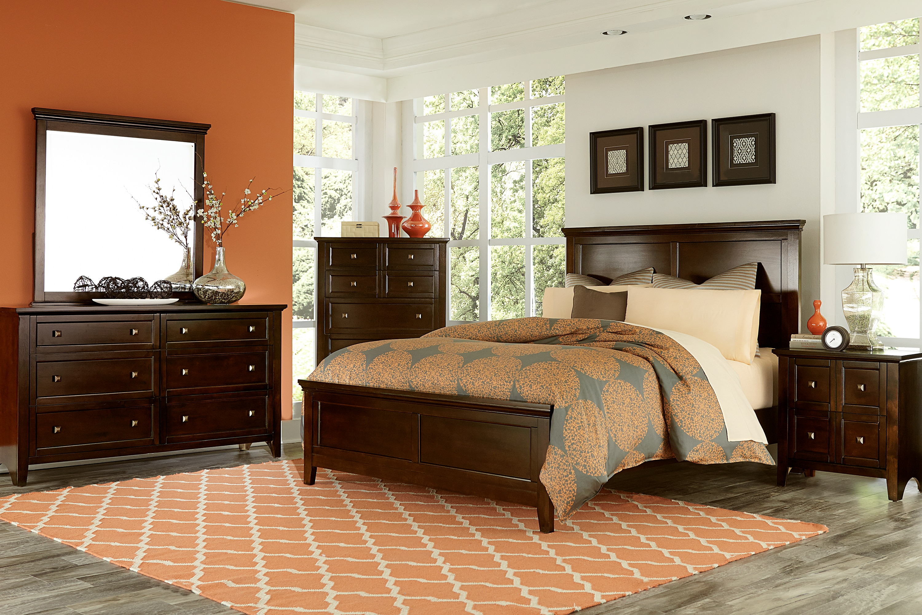 Melbourne 4-Piece Queen Bedroom Set - Cherry