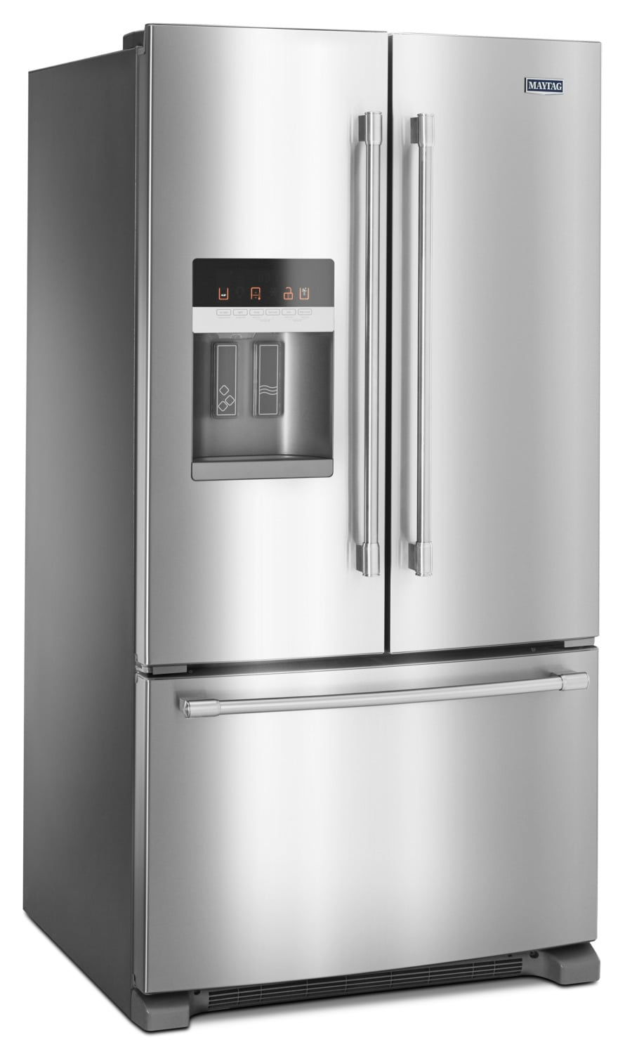 maytag stainless steel french door refrigerator 25 cu ft mfi2570fez leon 39 s. Black Bedroom Furniture Sets. Home Design Ideas