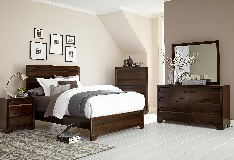 Bedroom Furniture - Venice 4-Piece Queen Bedroom Set - Merlot