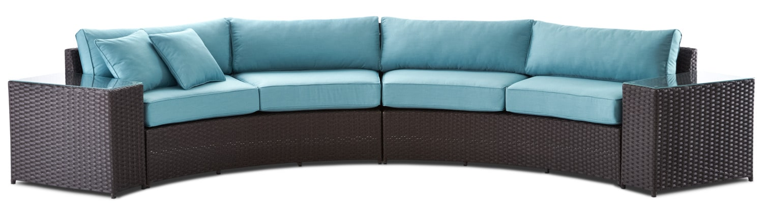 Windsor 4-Piece Outdoor Sectional - Aqua