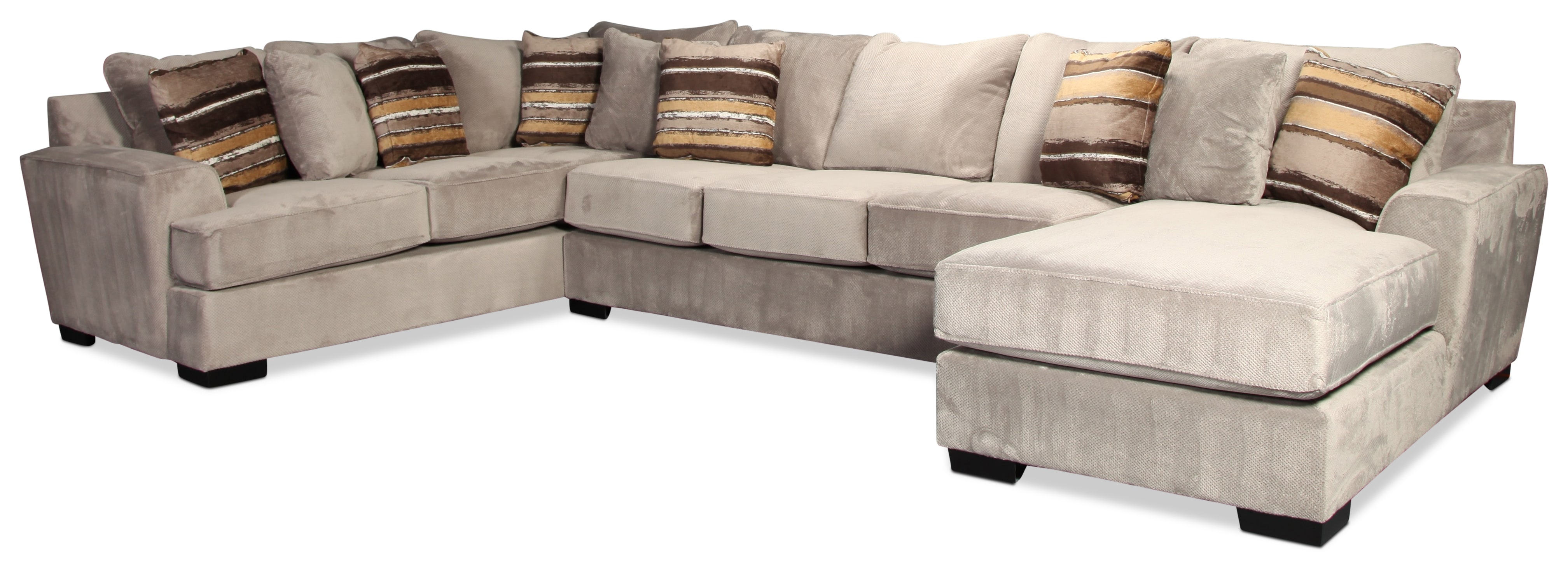 Serendipity 3-Piece Sectional - Platinum