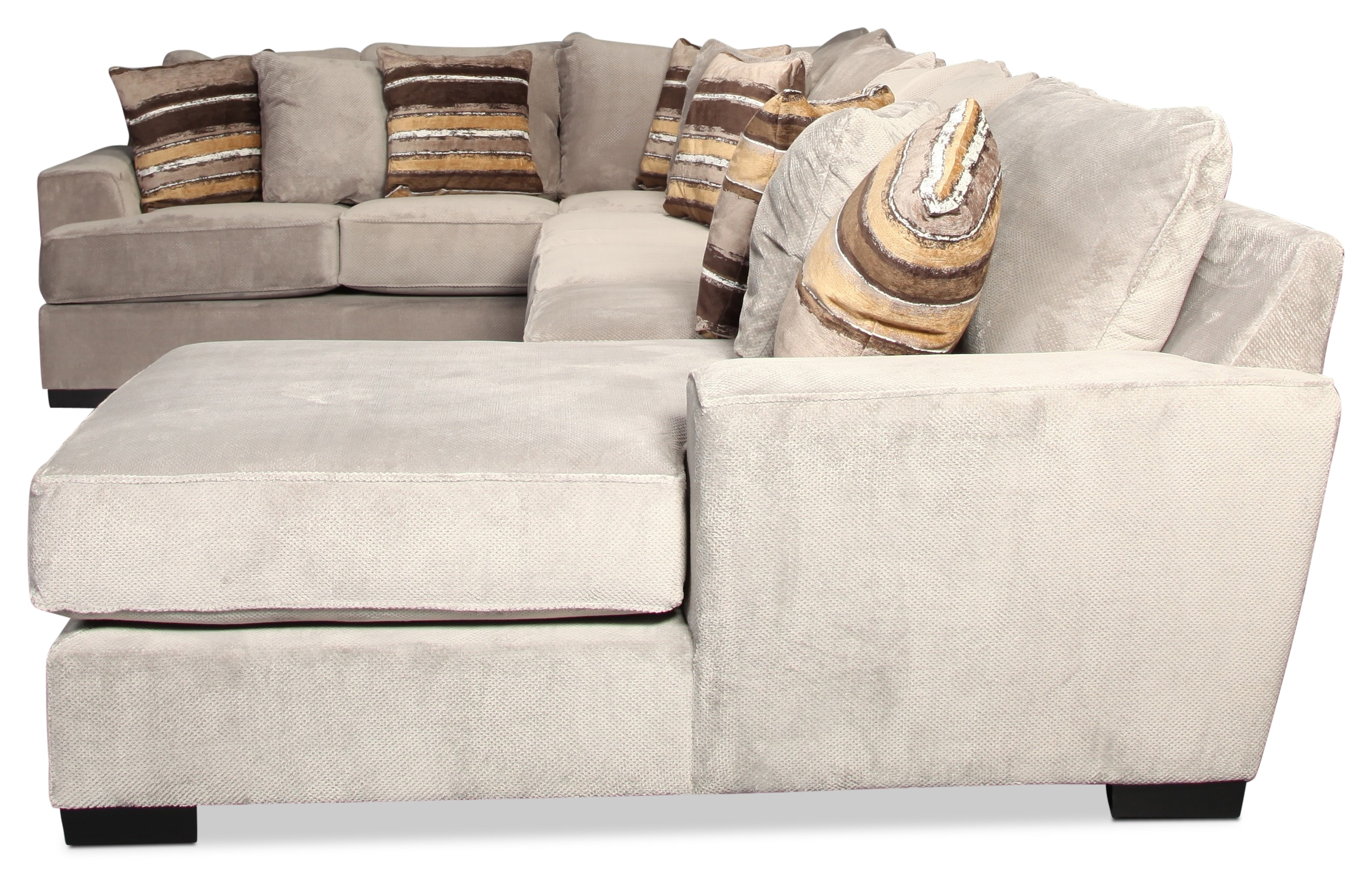 Serendipity 3 Piece Sectional Platinum Levin Furniture