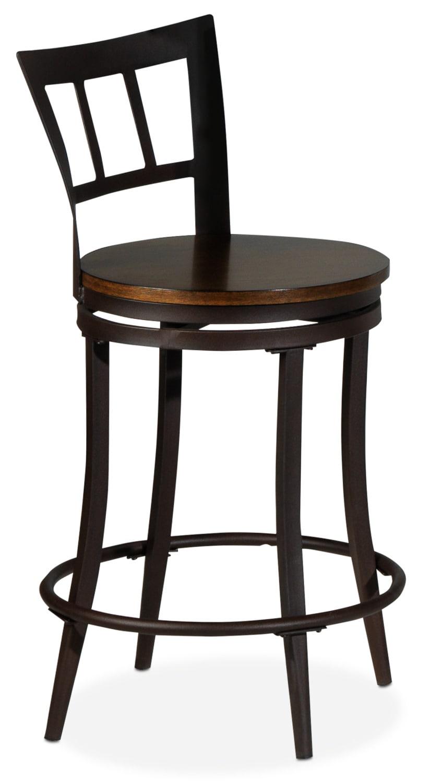 Carlo Pub-Height Swivel Chair - Rust and Pine