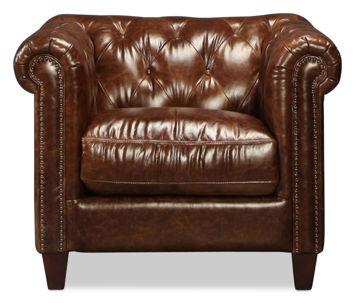 Natalia Leather Chair - Cigar