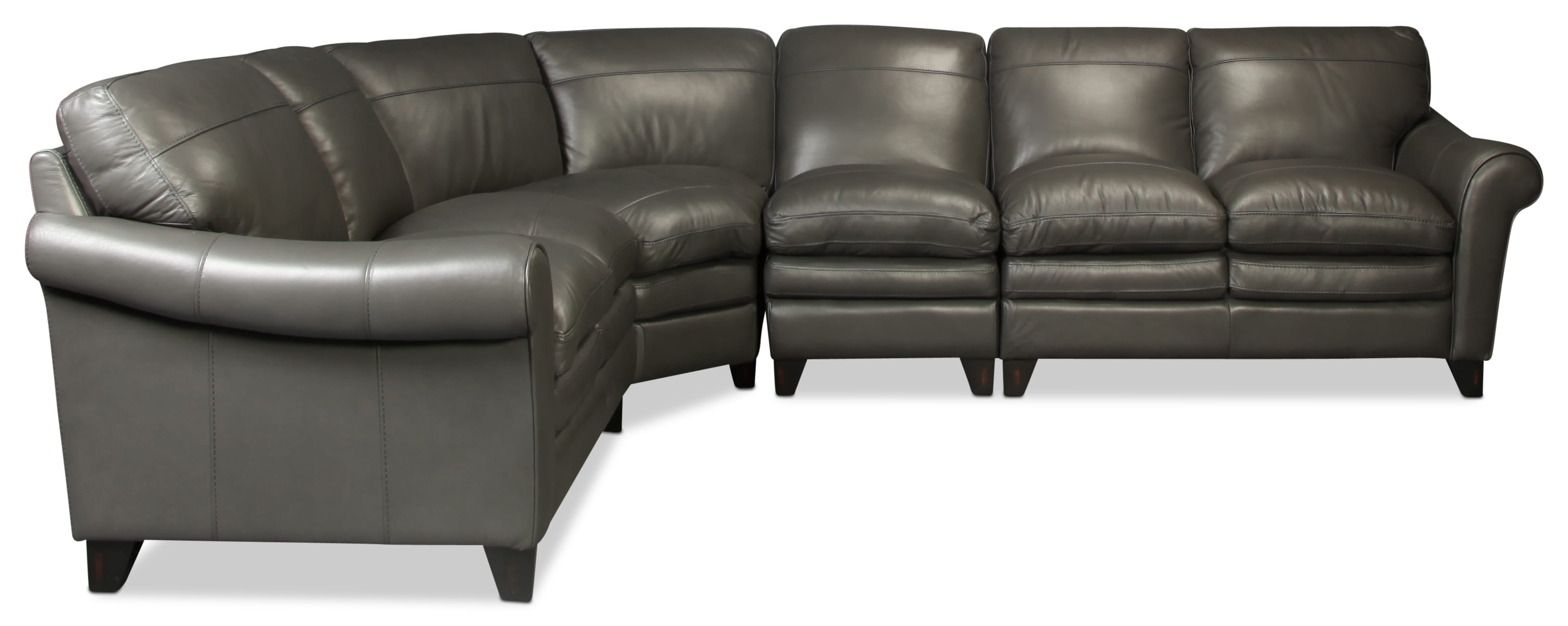Lafayette 4-Piece Sectional - Charcoal