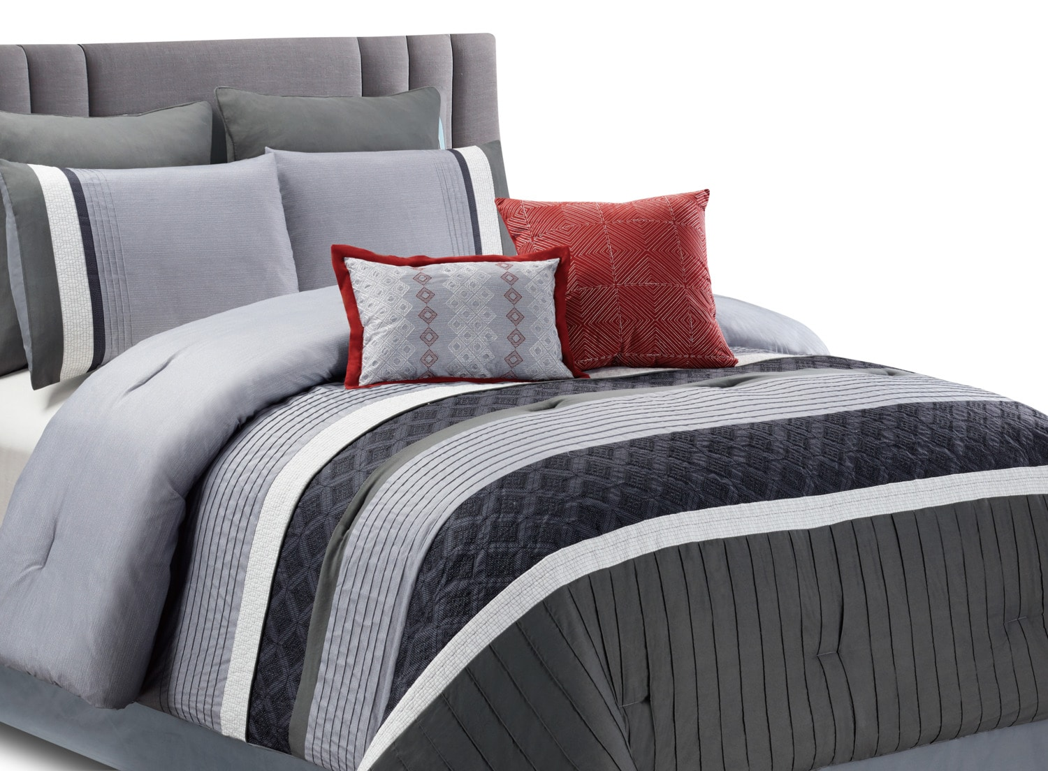 Meridian 8-Piece Queen Comforter Set