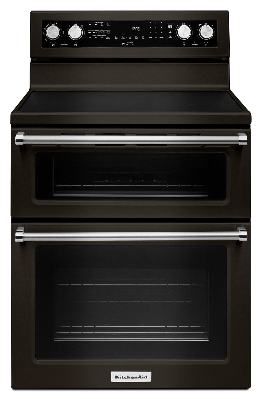 Kitchenaid Black Stainless Steel Freestanding Electric