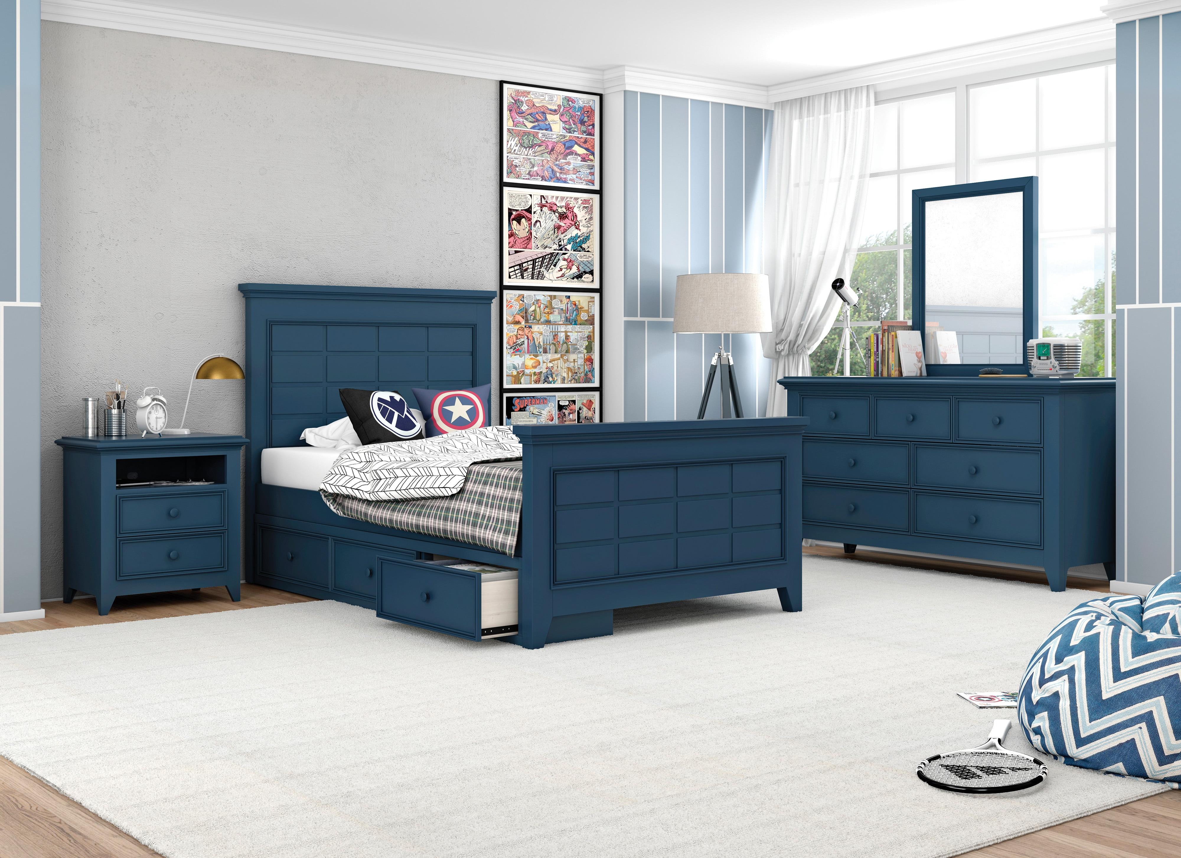 Breslin 4 Piece Twin Bedroom - Navy