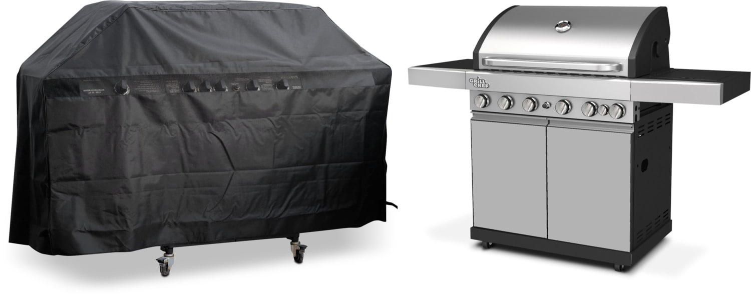 Grill Chef 70,500 BTU Dual-Fuel Barbeque with Cover