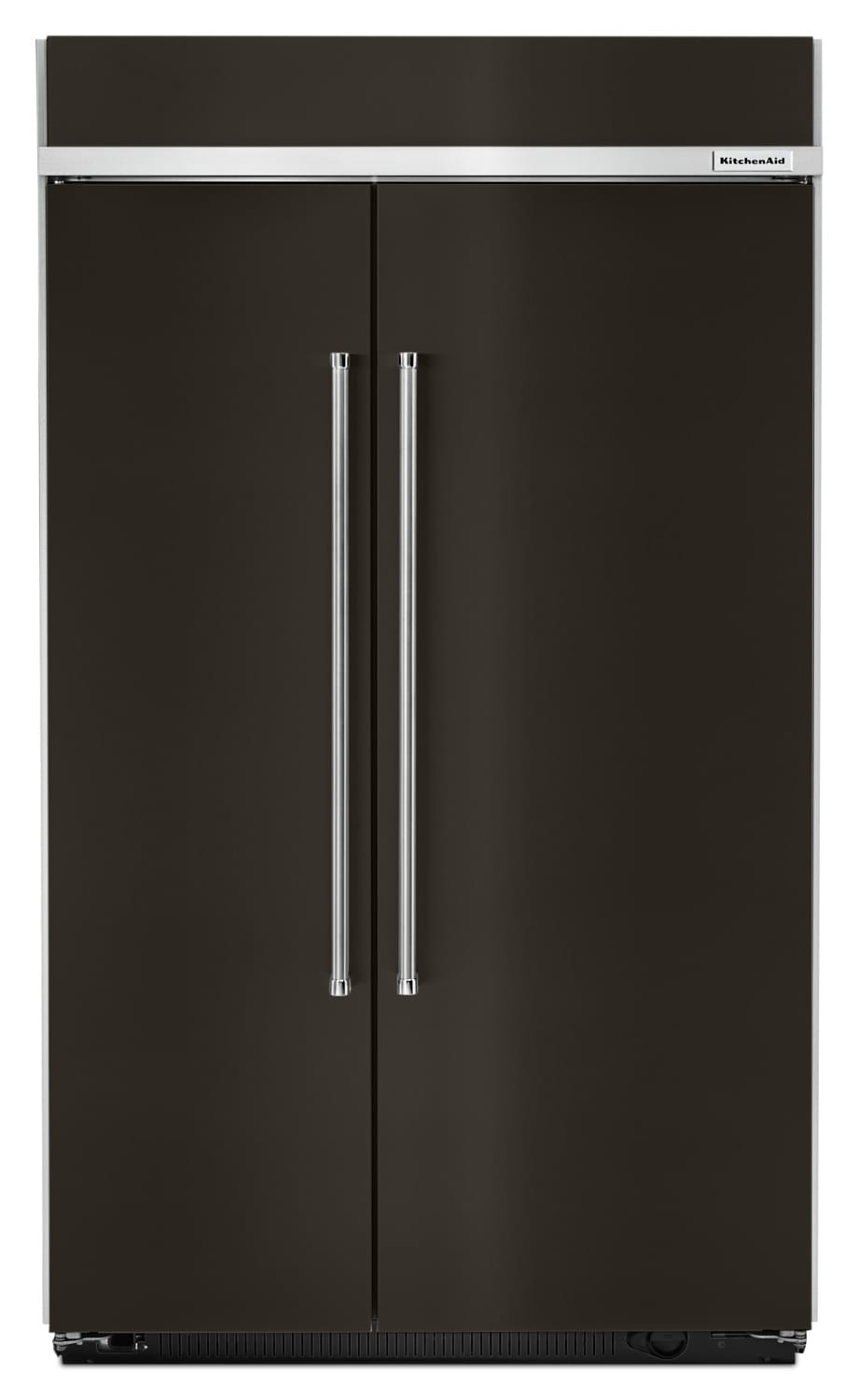 KitchenAid Black Stainless Steel Side-by-Side Refrigerator (30.02 Cu. ft) - KBSN608EBS