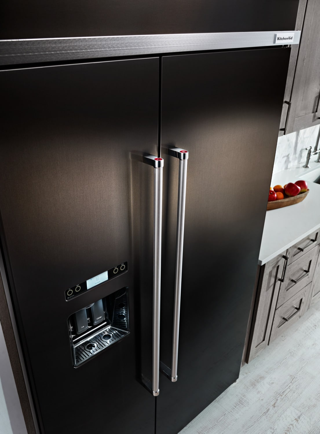 Kitchenaid Black Stainless Steel Side By Side Refrigerator