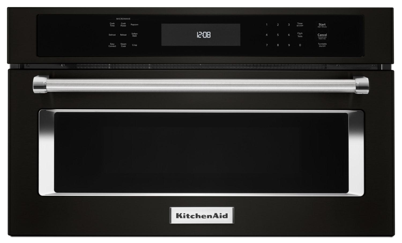 KitchenAid Black Stainless Steel Built-In Microwave (1.4 Cu. Ft.) - KMBP107EBS