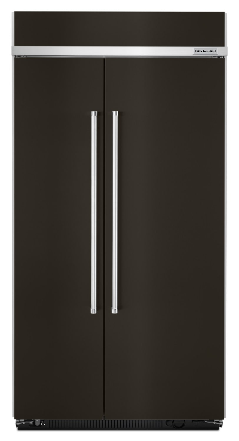 KitchenAid Black Stainless Steel Side-by-Side Refrigerator (25.5 cu. ft.) - KBSN602EBS