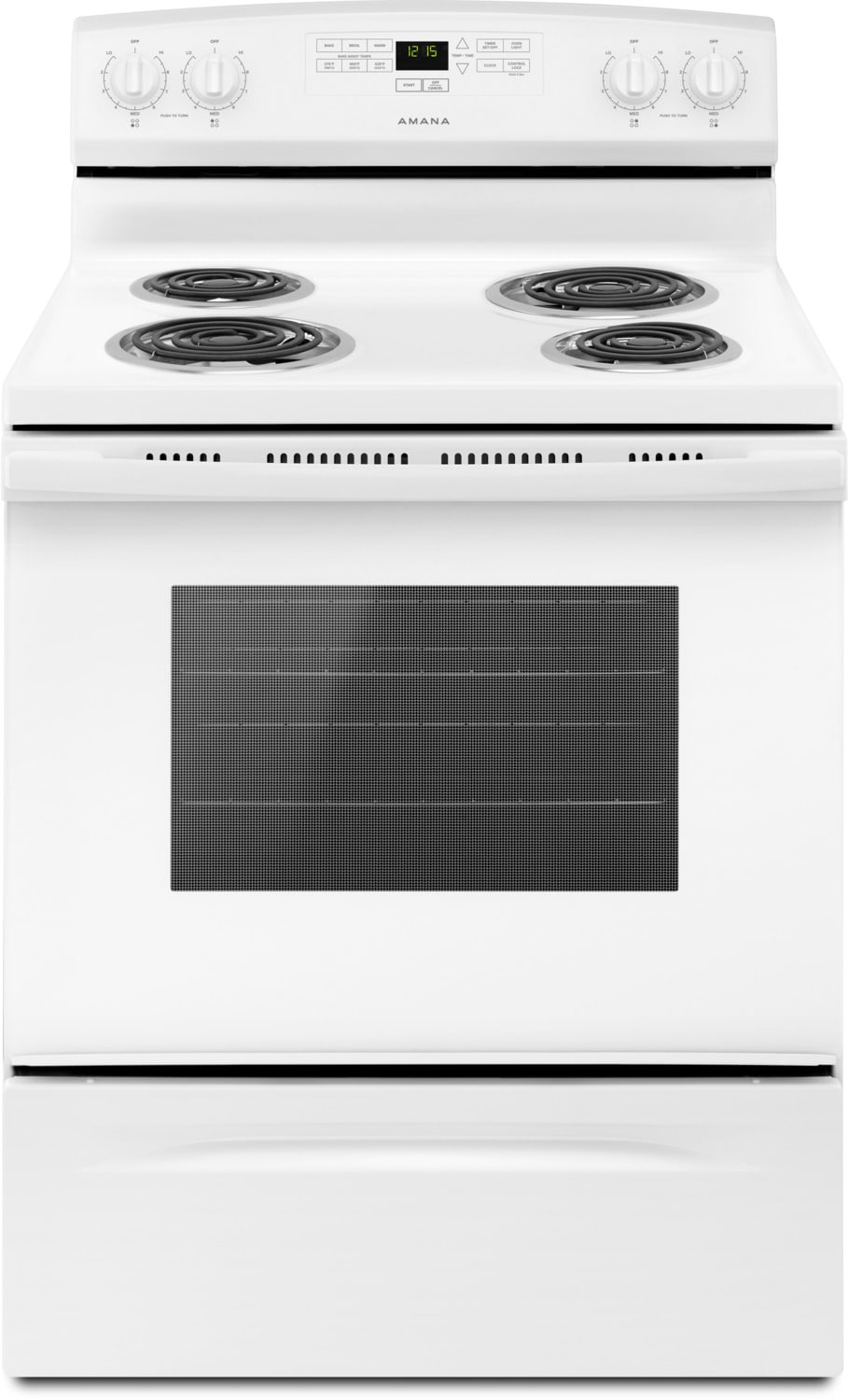 Amana White Freestanding Electric Range (4.8 Cu. Ft.) - YACR4303MFW