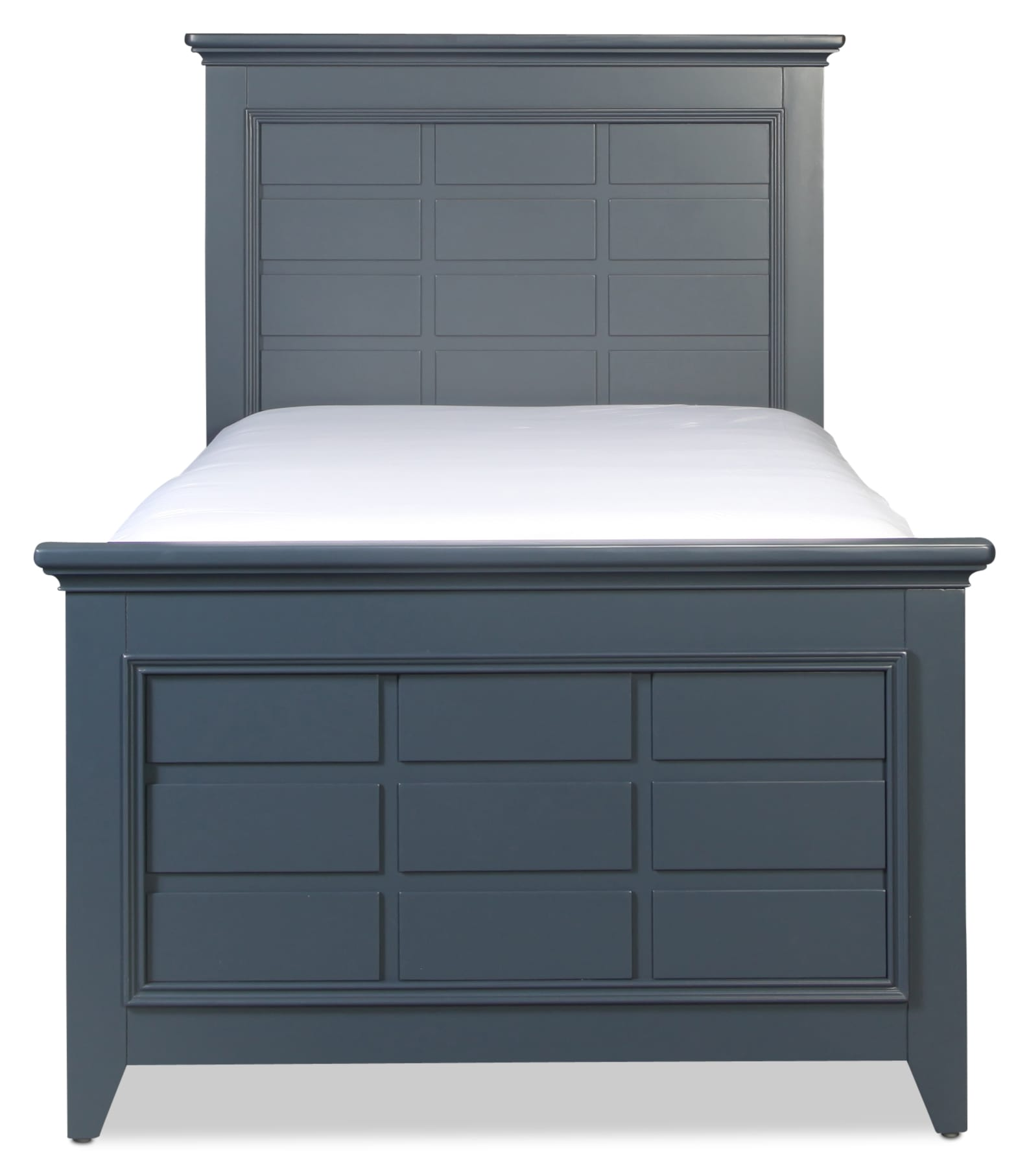 Breslin Twin Panel Bed - Navy