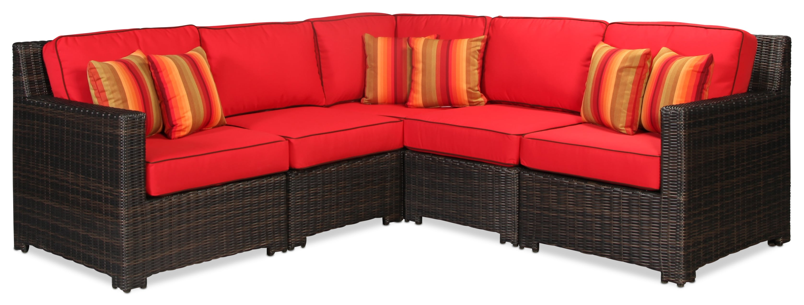 Northport Red 5 Piece Sectional