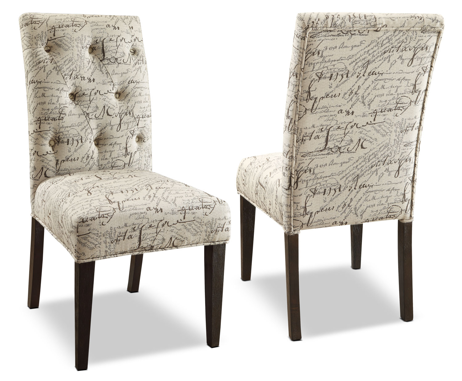 Brisbane Script Dining Chair – Set of 2